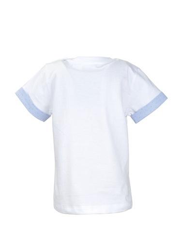 Mininio Beyaz Cepli Kol Parçalı T-Shirt (9ay-4yaş) Beyaz Cepli Kol Parçalı T-Shirt (9ay-4yaş) Beyaz